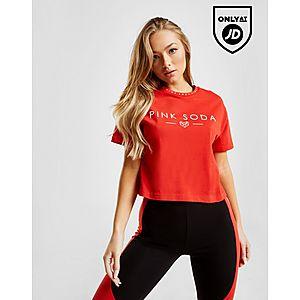 10e07af1d42e5 ... Pink Soda Sport Zuma Tape Crop T-Shirt