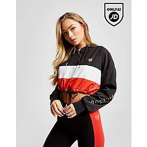 2fddf21039cef8 Pink Soda Sport Colour Block Crop Jacket ...