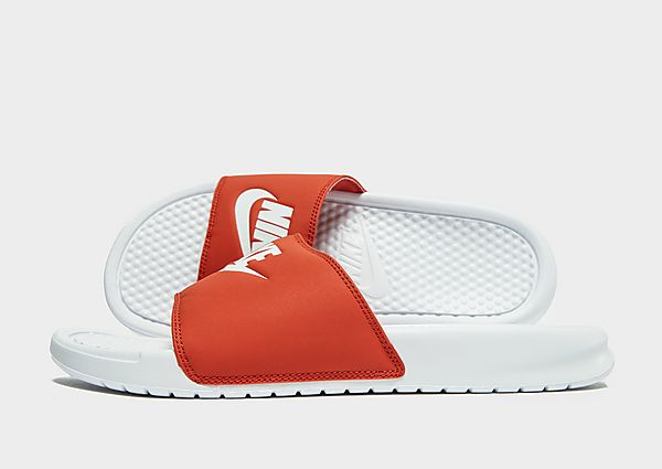 Nike Benassi Slides Heren - Red - Heren