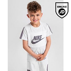 536db8104 Nike Colour Block Logo T-Shirt Children ...