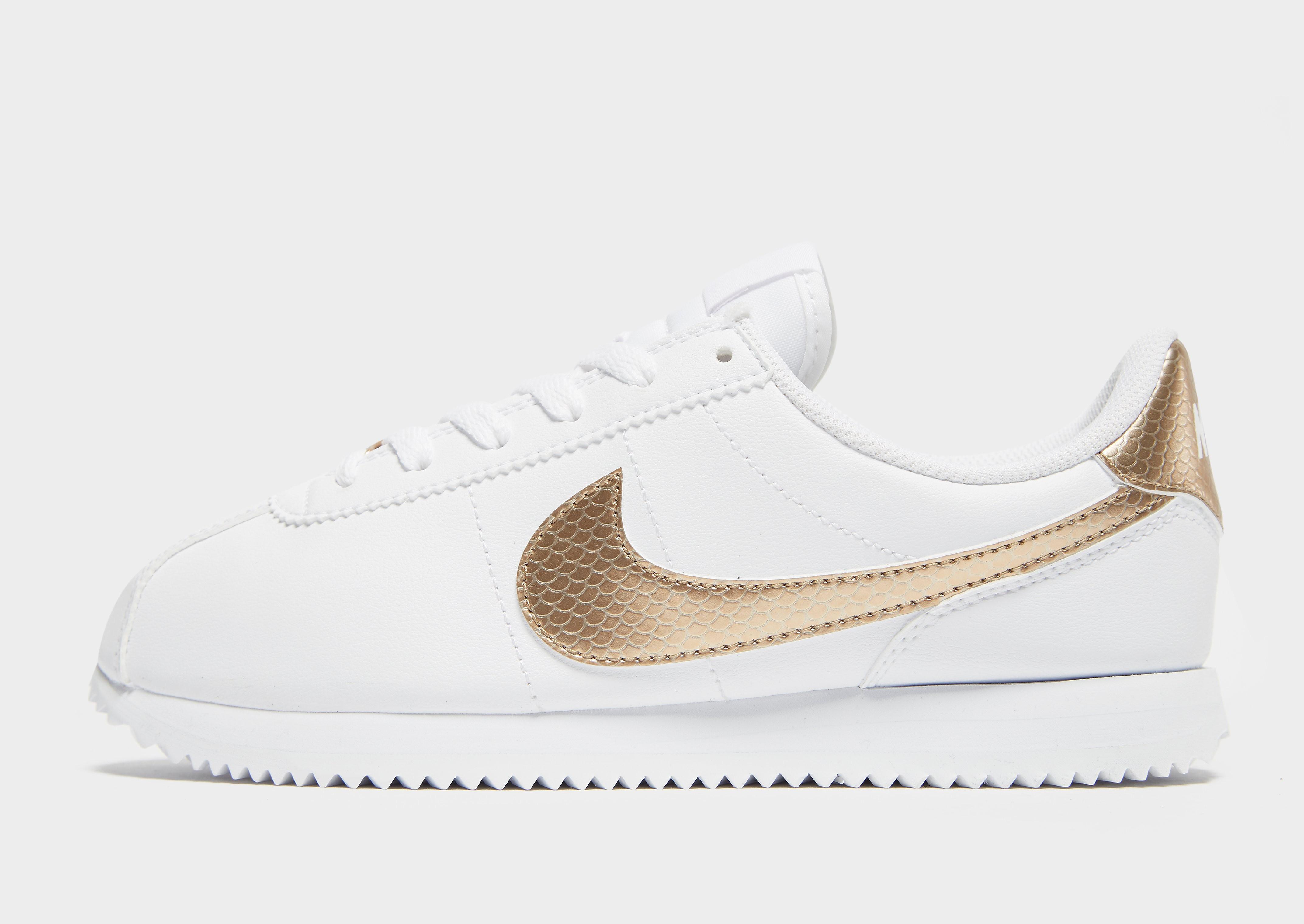 Nike Classic Cortez kindersneaker wit