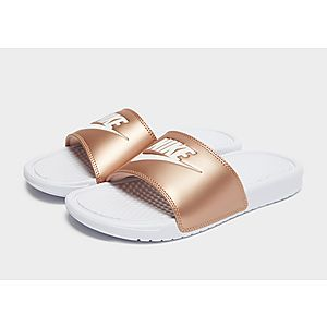 new products 03092 1bff8 ... Nike Benassi Just Do It Slides Women s