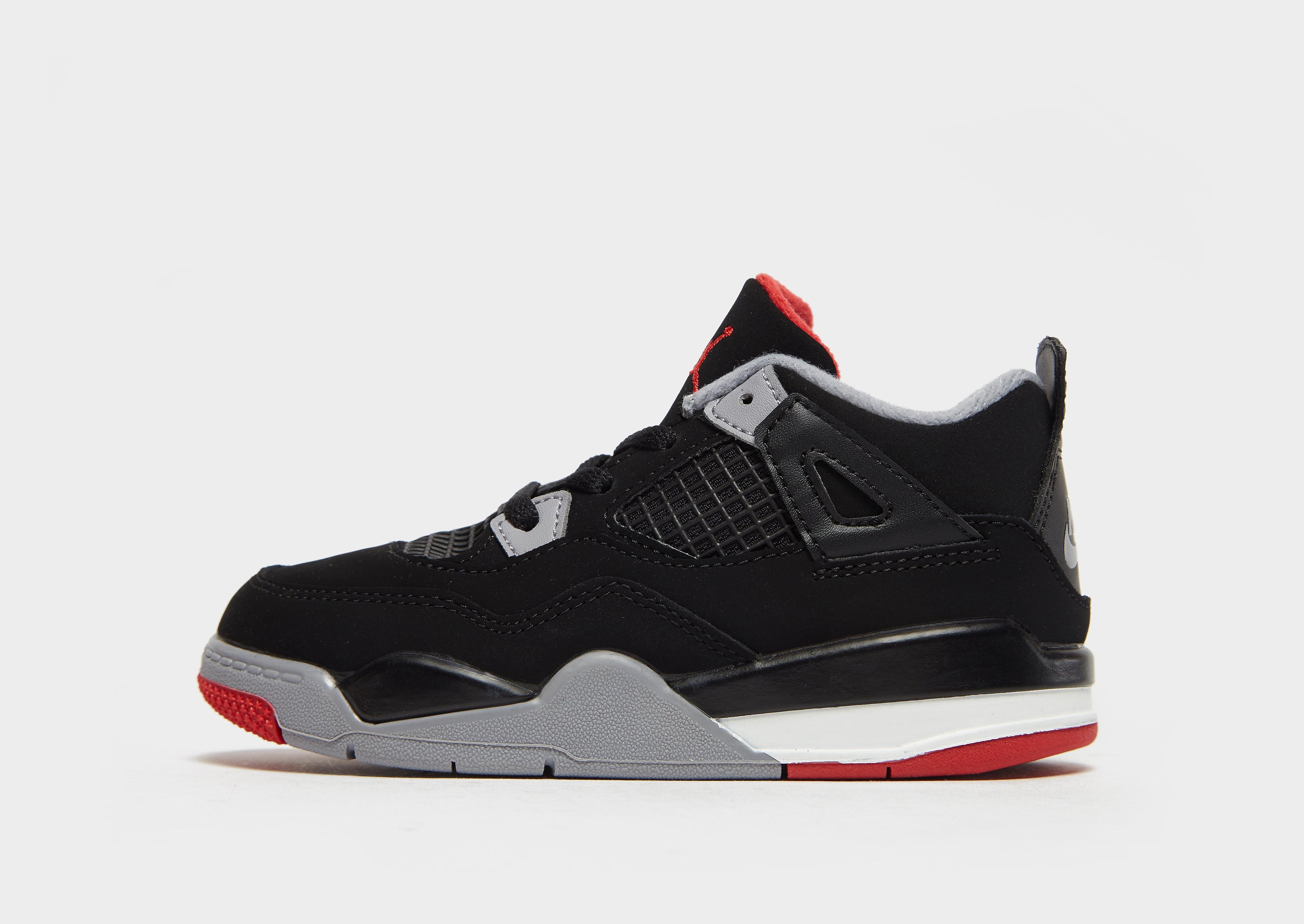 Jordan kindersneaker zwart, grijs en rood