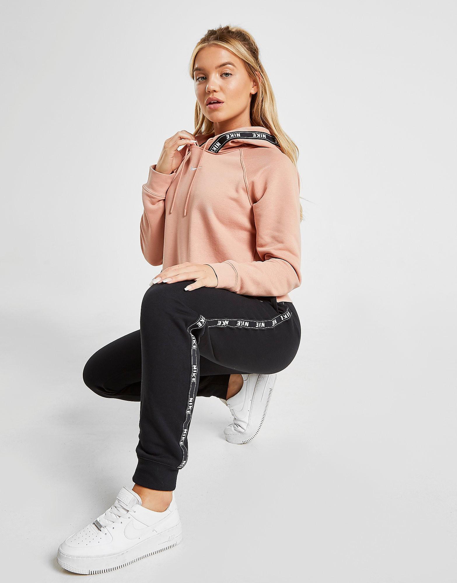 Nike Tape Overhead Hoodie Dames - alleen bij JD - Roze - Dames