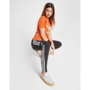 detailed look eaf1b e1b44 ... adidas Originals Trefoil Flock T-Shirt