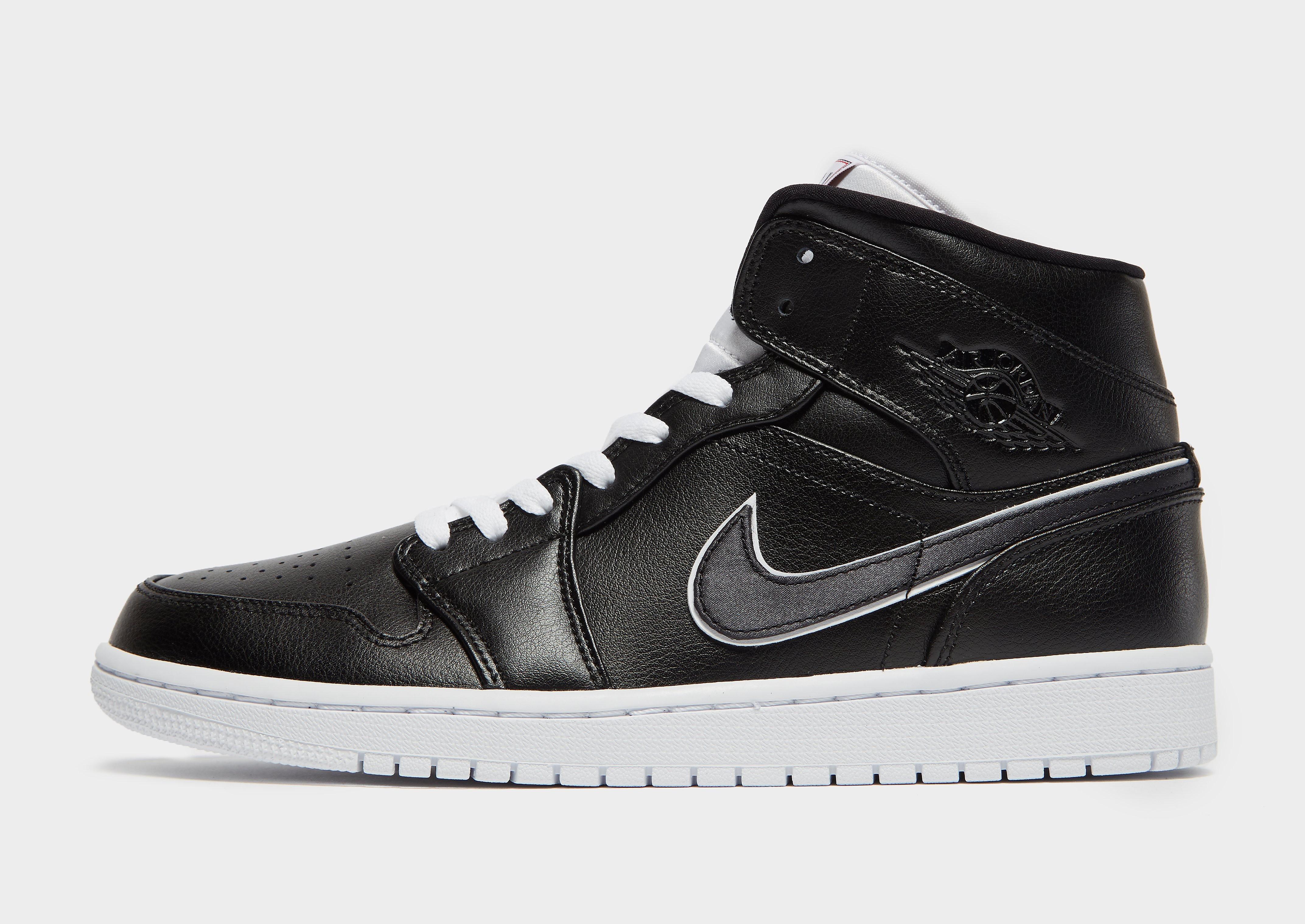 Jordan herensneaker zwart en grijs