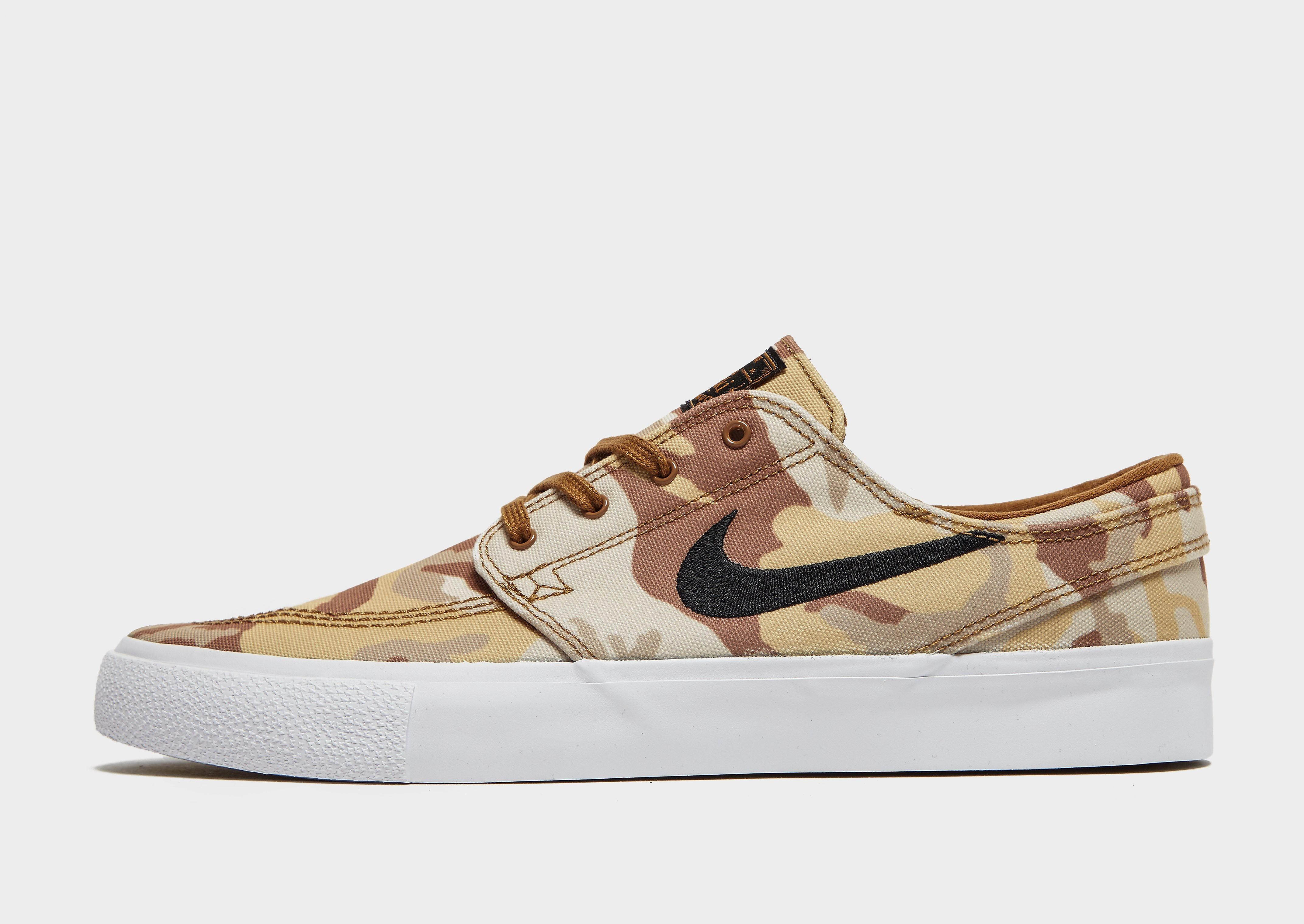 Nike Stefan Janoski herensneaker beige, zwart en wit