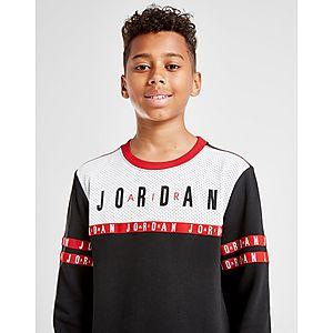 95a7baf8de77 Jordan Jumpman Tape French Terry Crew Sweatshirt Junior ...