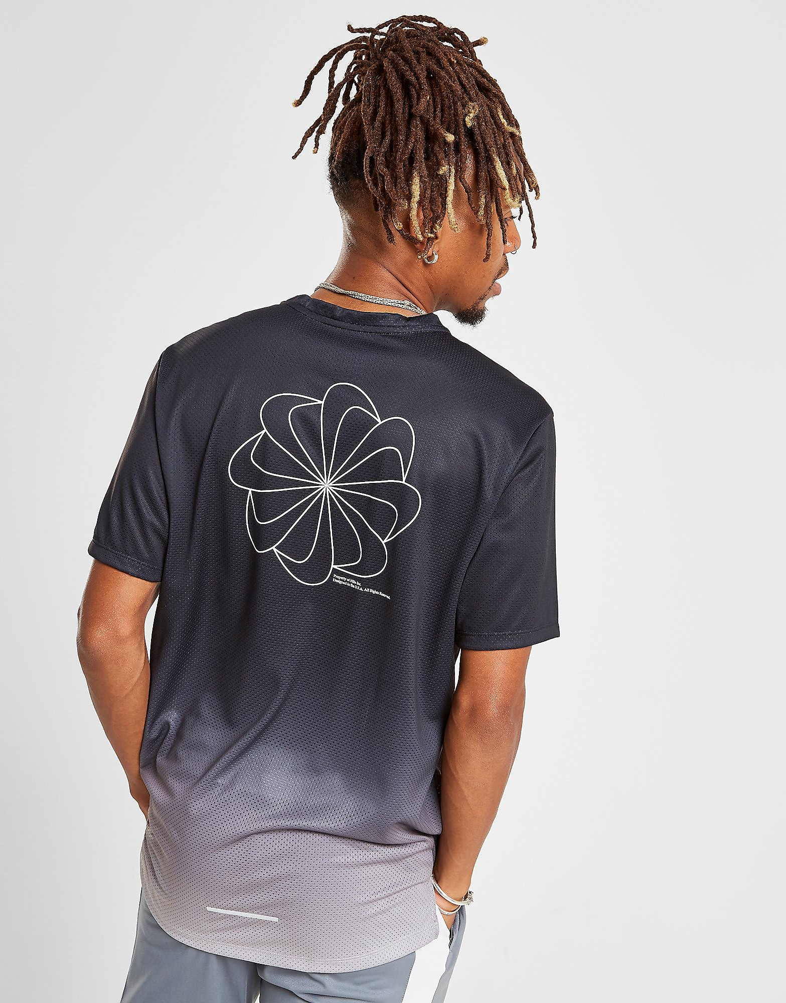 Nike Pinwheel Fade T-Shirt Heren Zwart Heren
