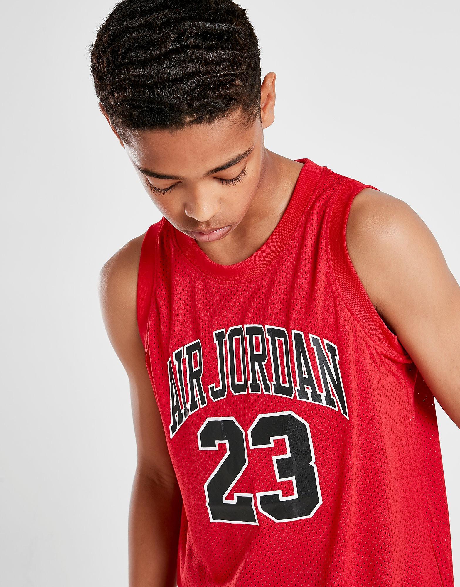 Jordan Mesh Jersey Junior - Rood - Kind