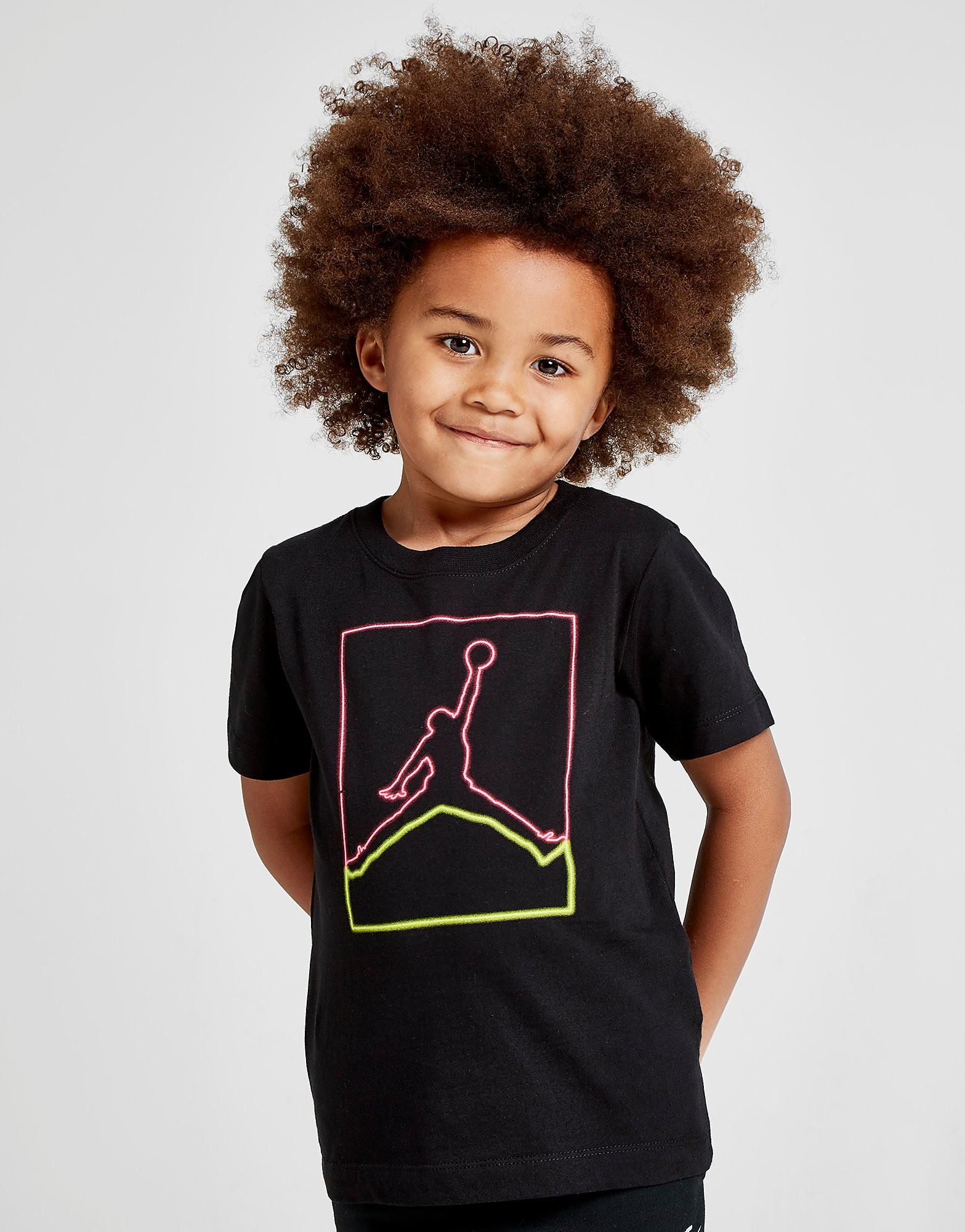 Jordan Light Flight T-Shirt Kinderen - Zwart - Kind