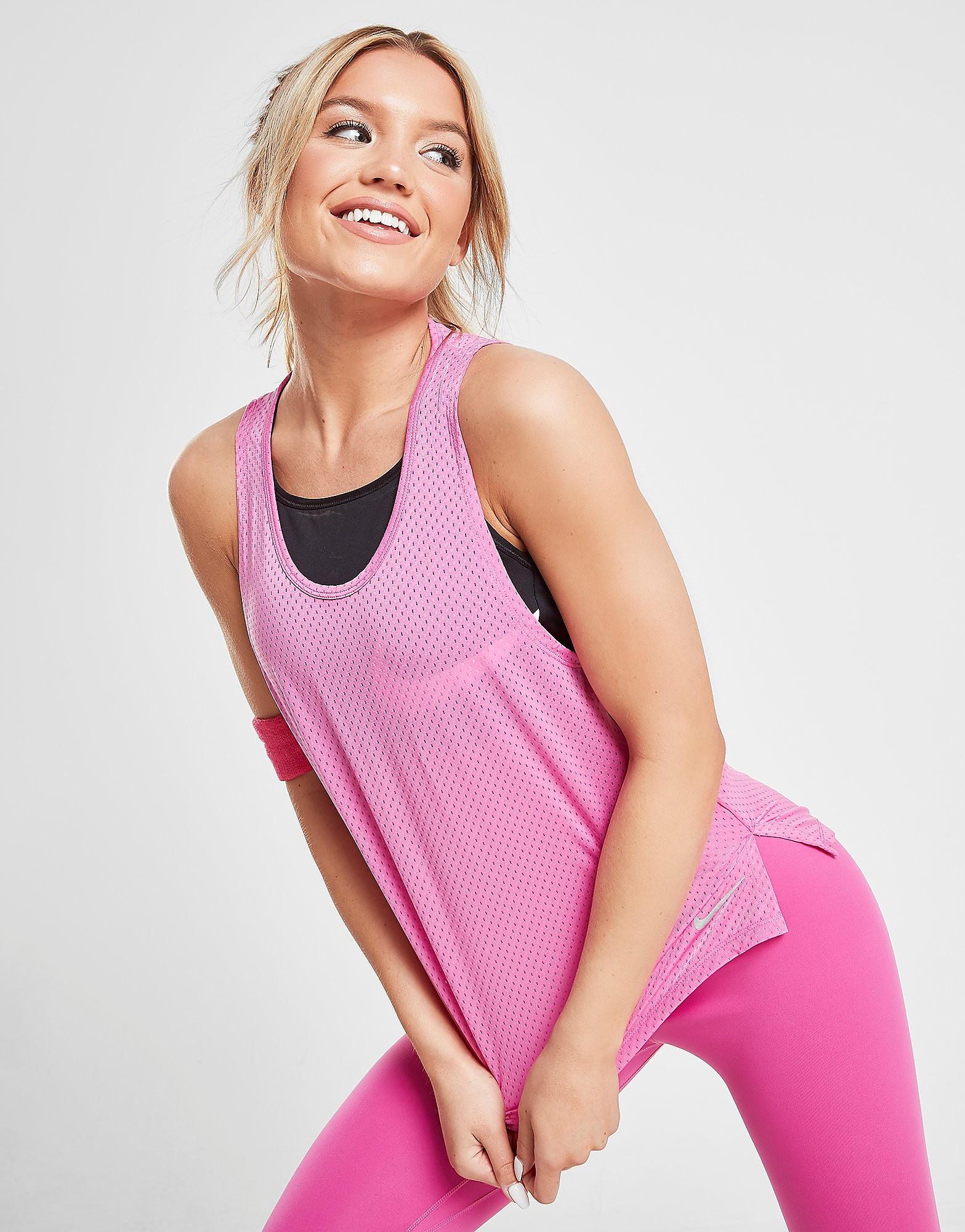 Nike Running Miler Breathe Tank Top Dames - Roze - Dames