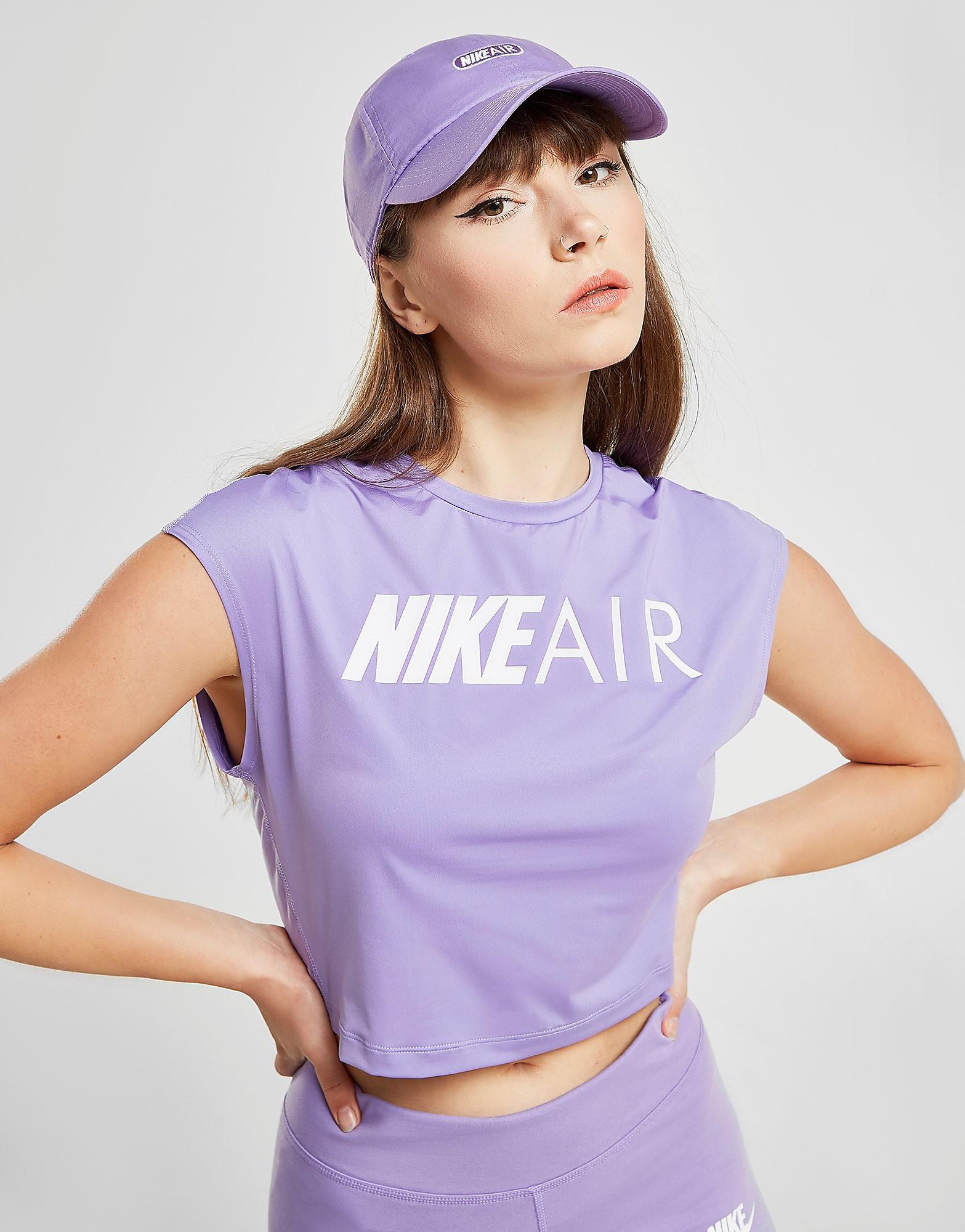 Nike Running Air Crop T-Shirt Dames - Paars - Dames
