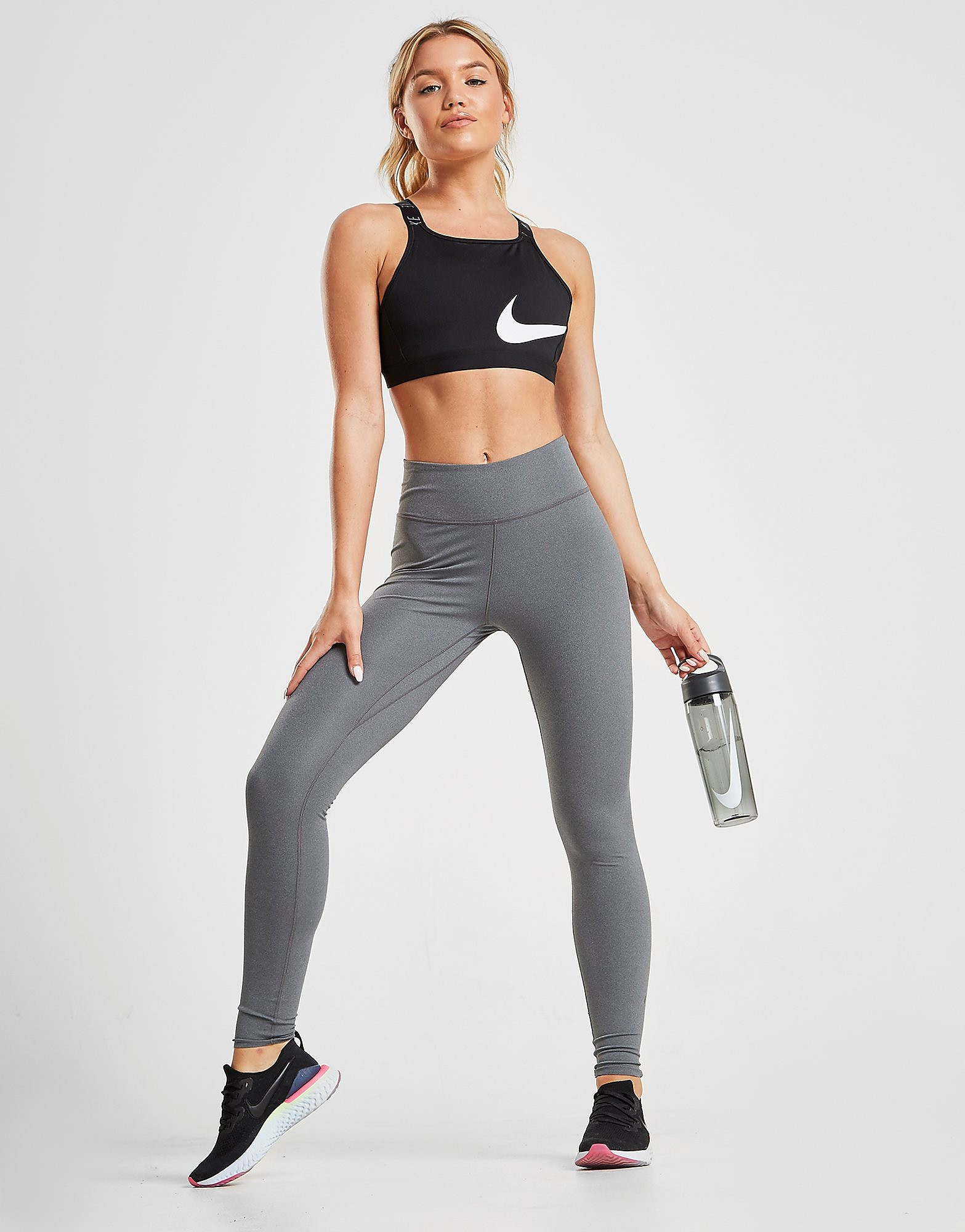 Nike Training One Luxe Tights Dames Grijs Dames