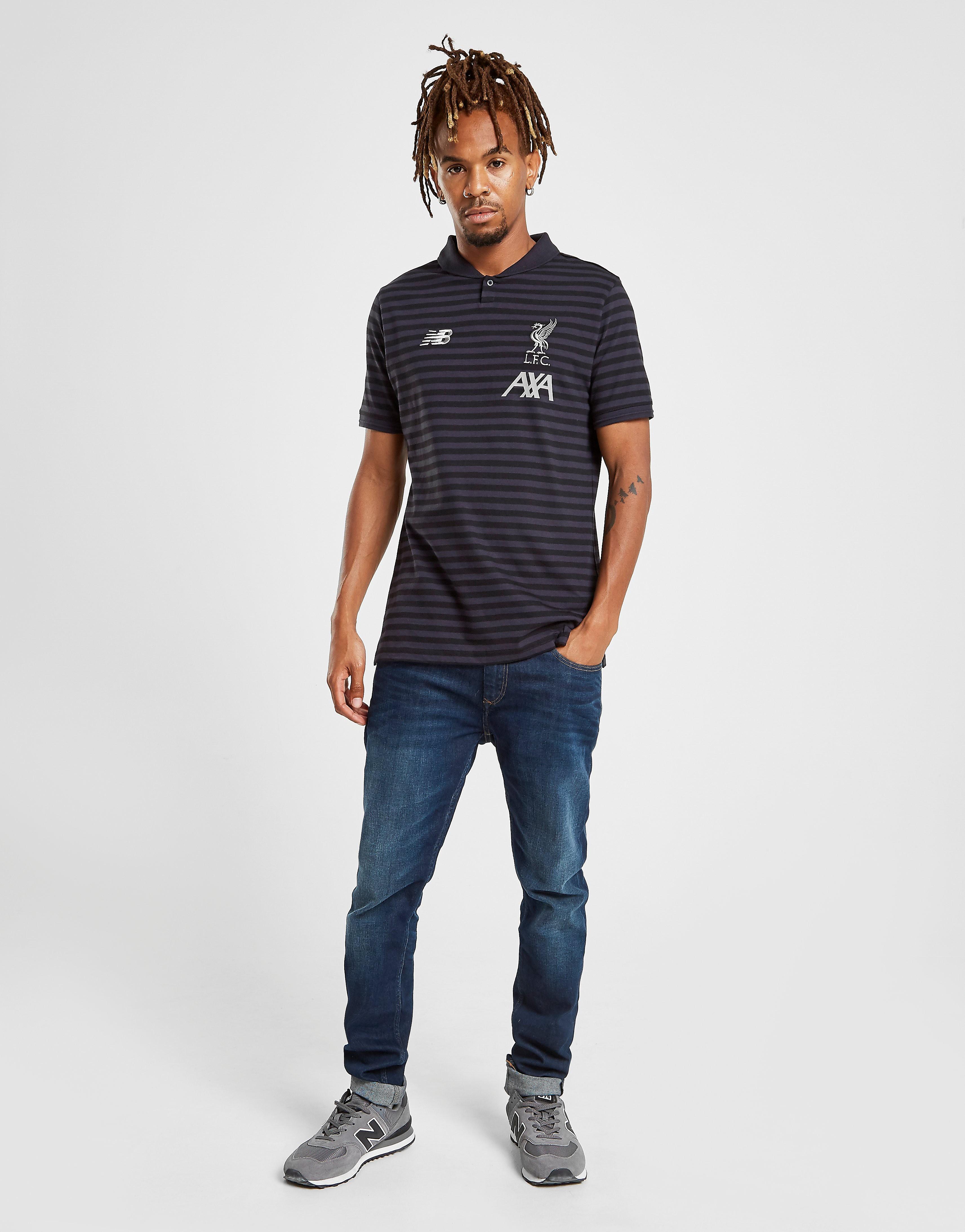 New Balance Liverpool FC Travel Polo Shirt Heren Zwart Heren