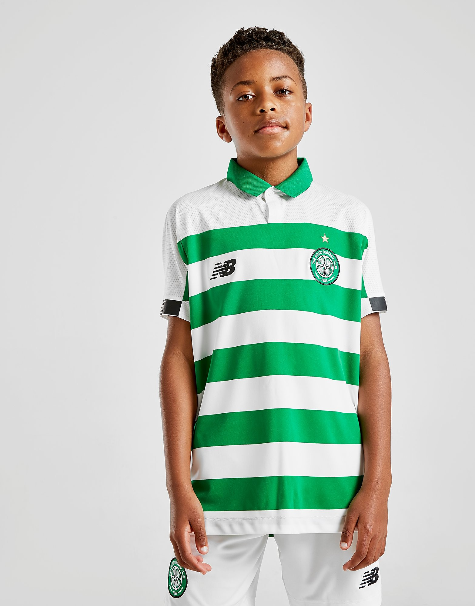 New Balance Celtic FC 2019 Home Shirt Junior Groen Kind