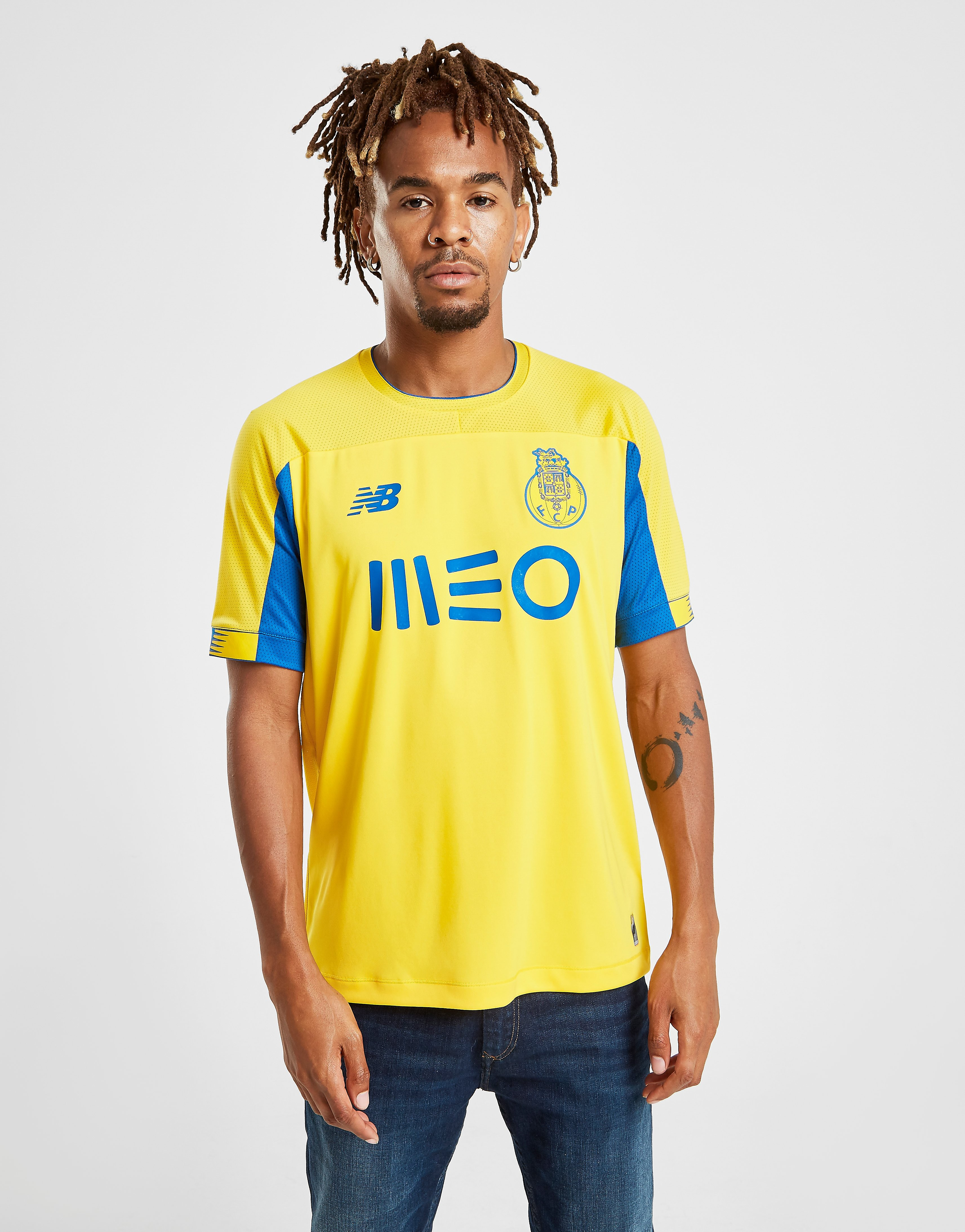 New Balance FC Porto 2019/20 Away Shirt Geel Heren