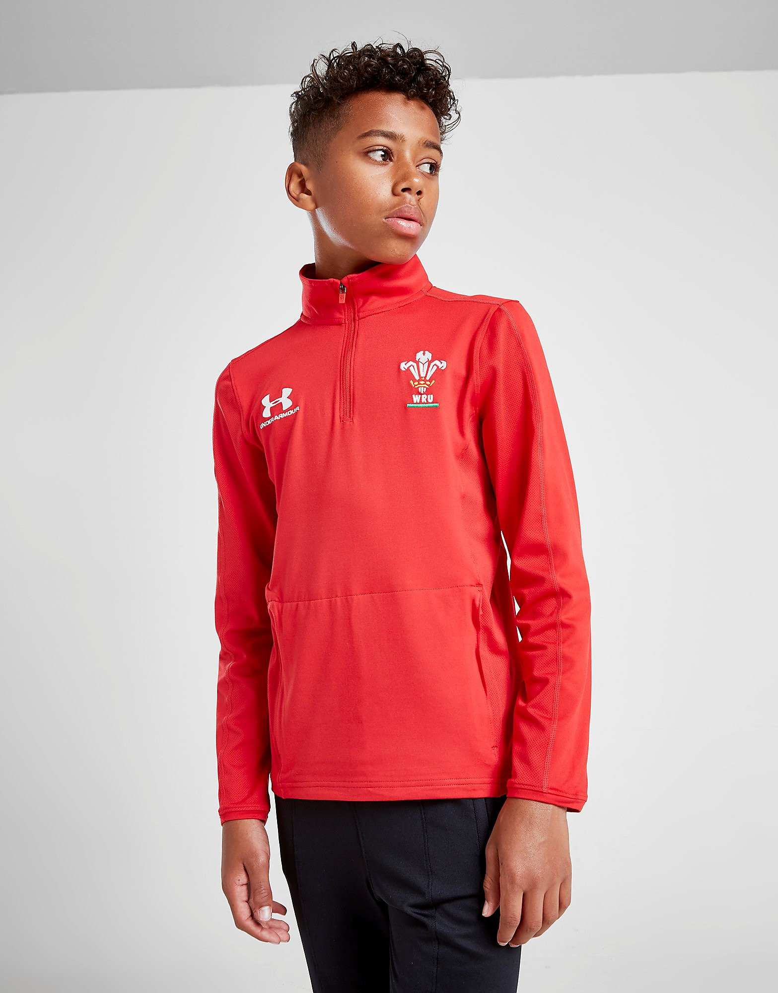 Under Armour Wales RU 1/4 Zip Track Top Junior Rood Kind