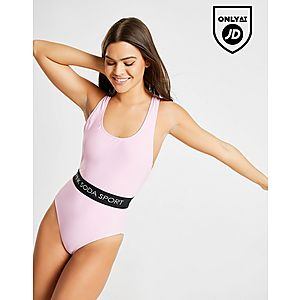 b1599712b4 Pink Soda Sport Elasticated Waist Swimsuit Pink Soda Sport Elasticated  Waist Swimsuit