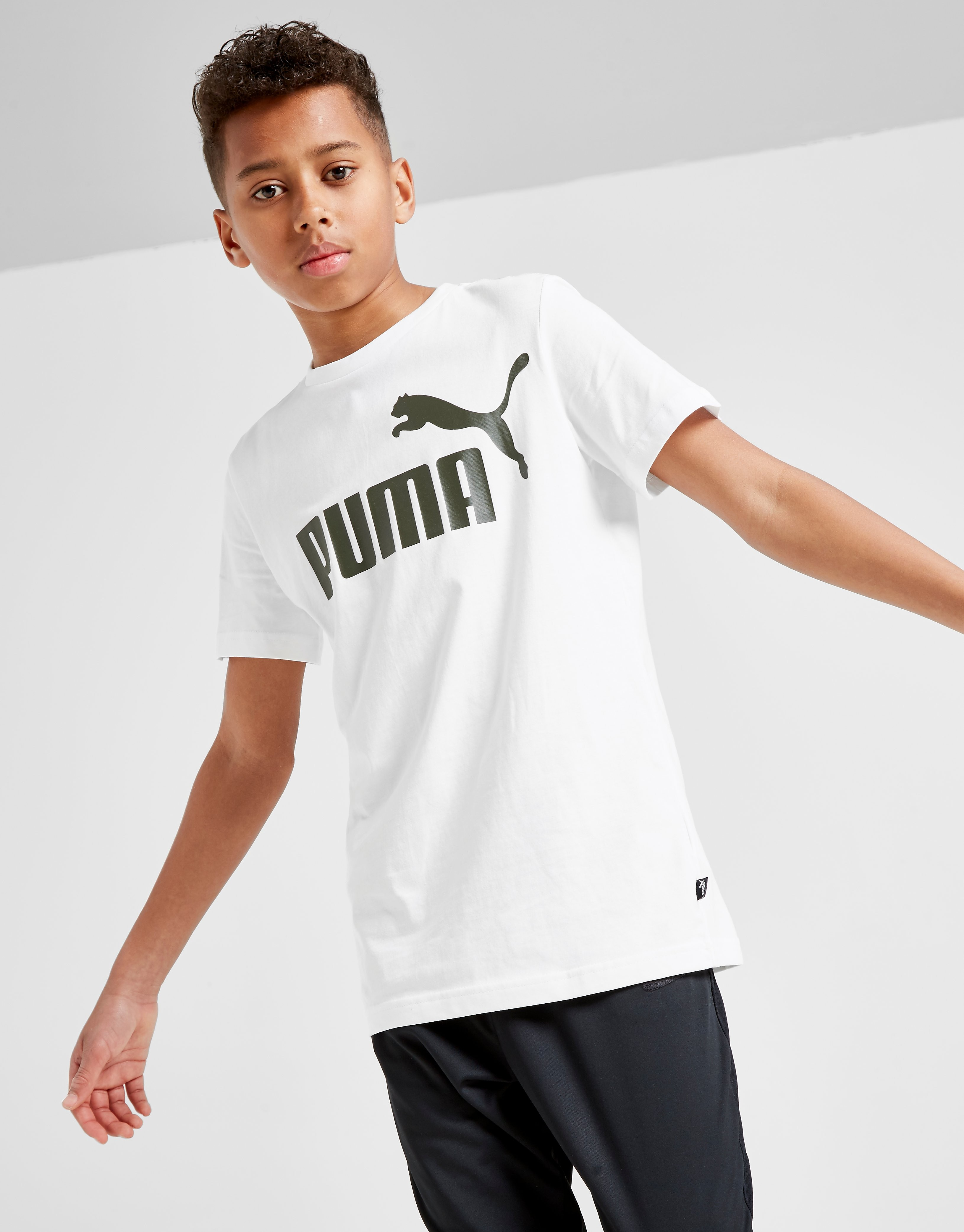 PUMA Essential Logo T-Shirt Junior Wit Kind
