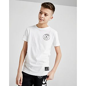 70cf7bf2878 Jordan x Paris Saint Germain Logo T-Shirt Junior ...