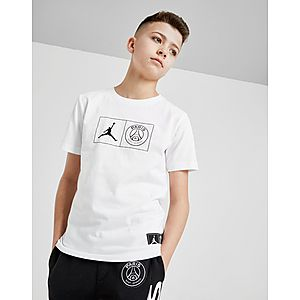 Jordan x Paris Saint Germain Jock Tag T-Shirt Junior ... 900afc25b04