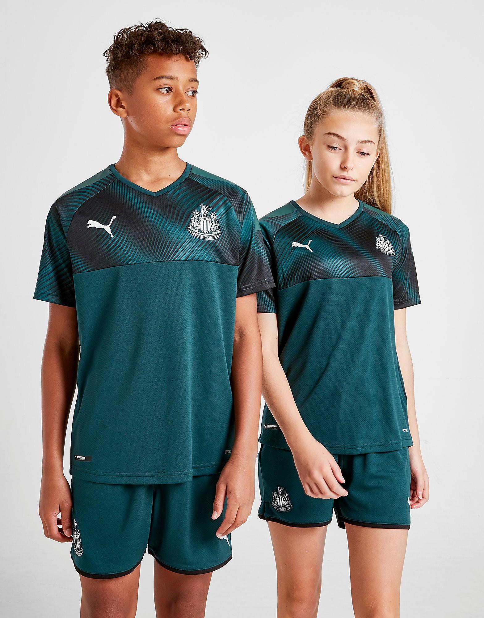 PUMA Newcastle United FC 2019/20 Away Shirt Junior Groen Kind