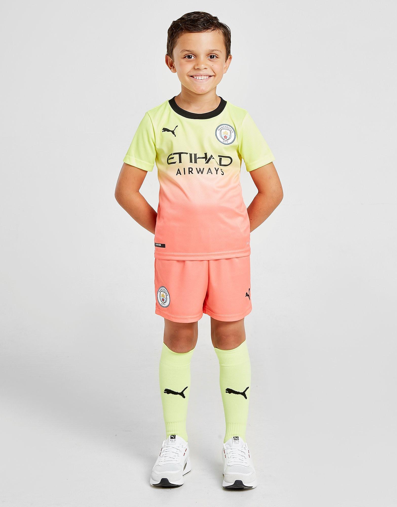 PUMA Manchester City FC 2019/20 Third Kit Children Geel Kind