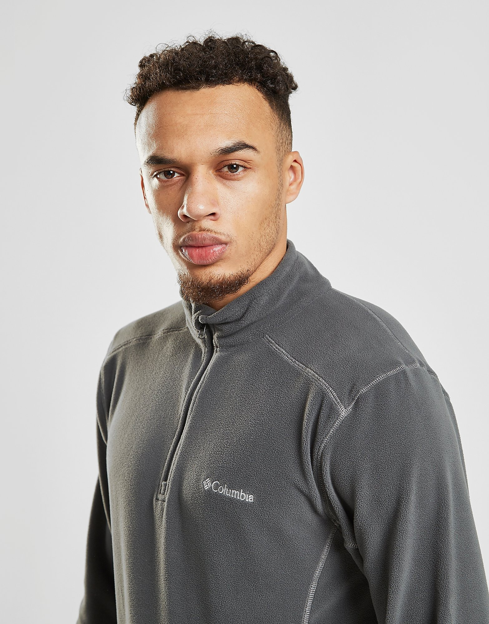 Columbia 1/4 Zip Micro Fleece Top Heren - Grijs - Heren