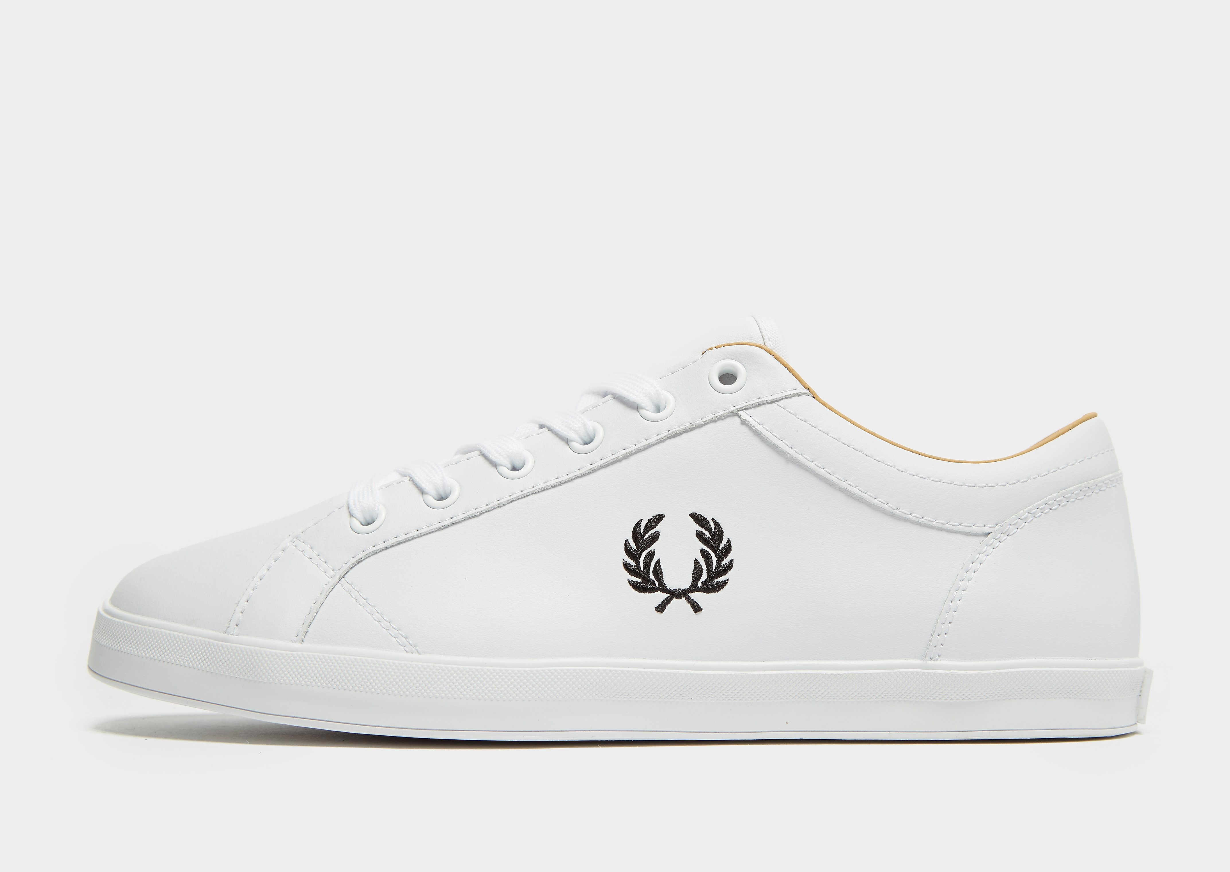 Fred Perry Baseline Leather White