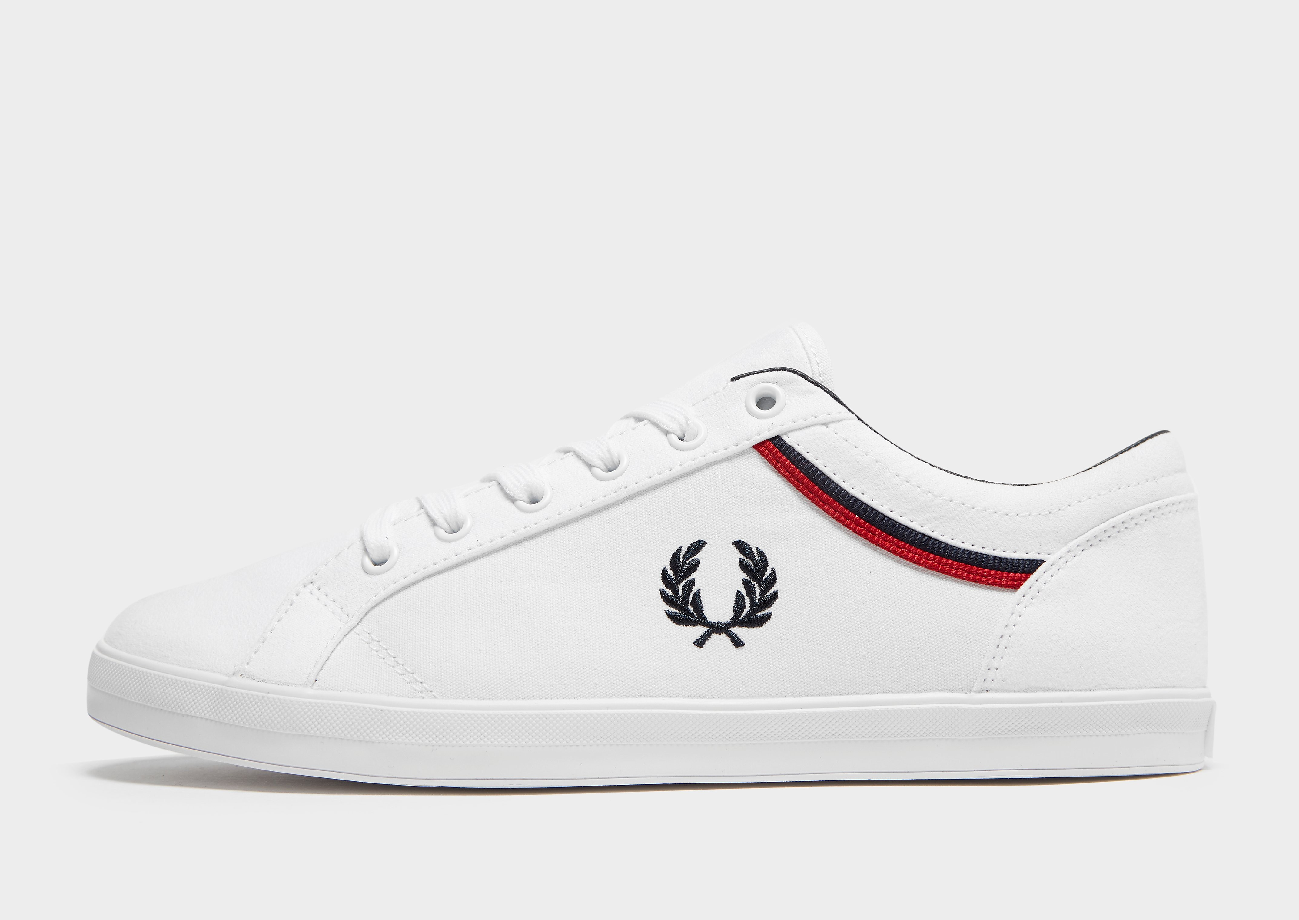 Fred Perry Baseline Tipped White