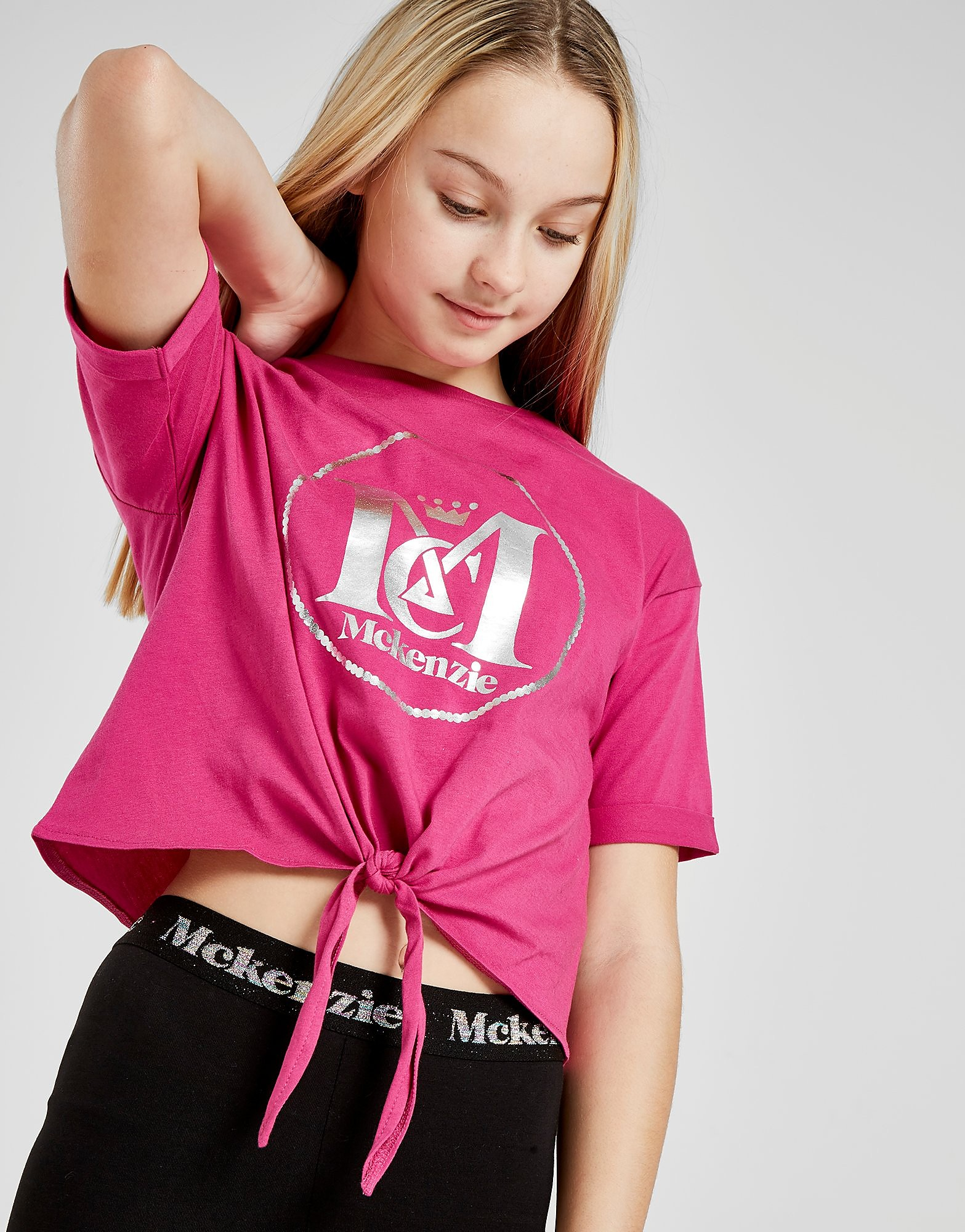 McKenzie Girls' Cleo Knot T-Shirt Junior - alleen bij JD - Roze - Kind