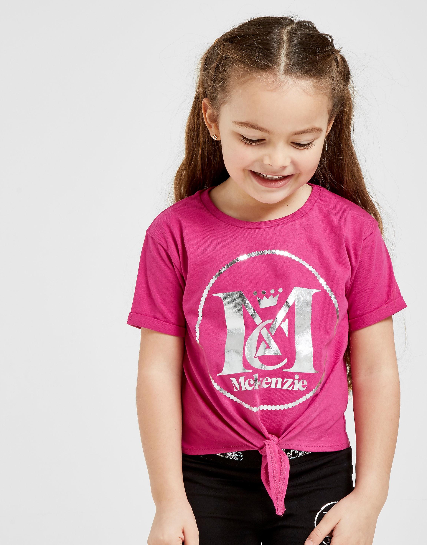 McKenzie Girls' Mini Cleo Knot T-Shirt Children - alleen bij JD - Roze - Kind