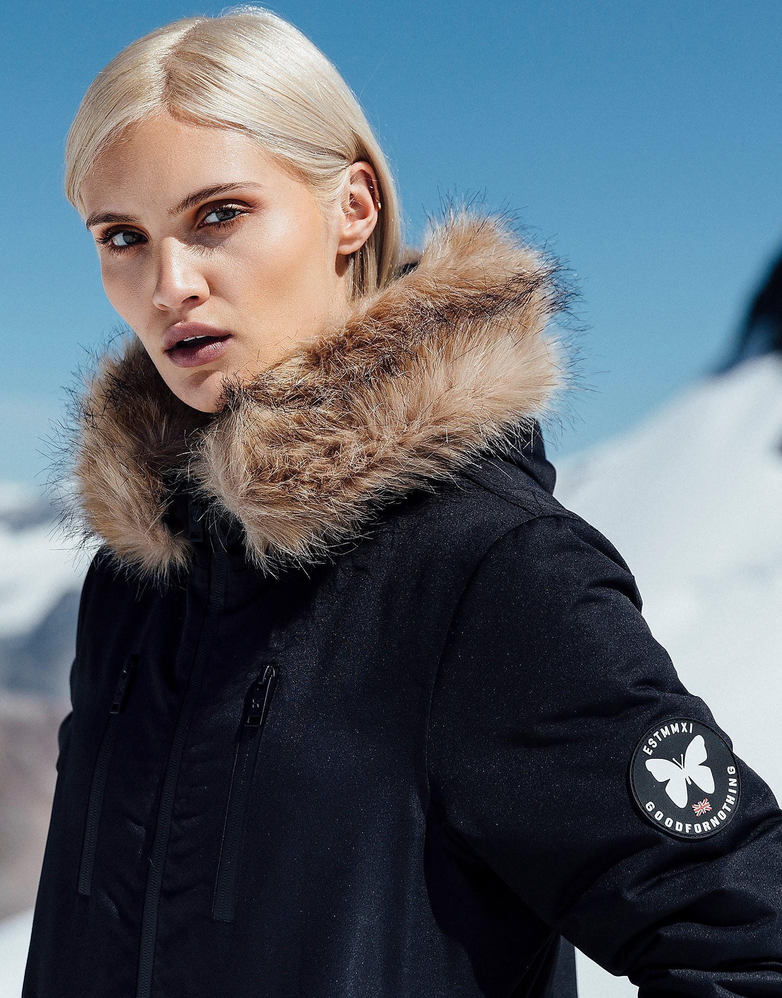 Good For Nothing Fur Hood Padded Jacket Dames - alleen bij JD - Zwart - Dames