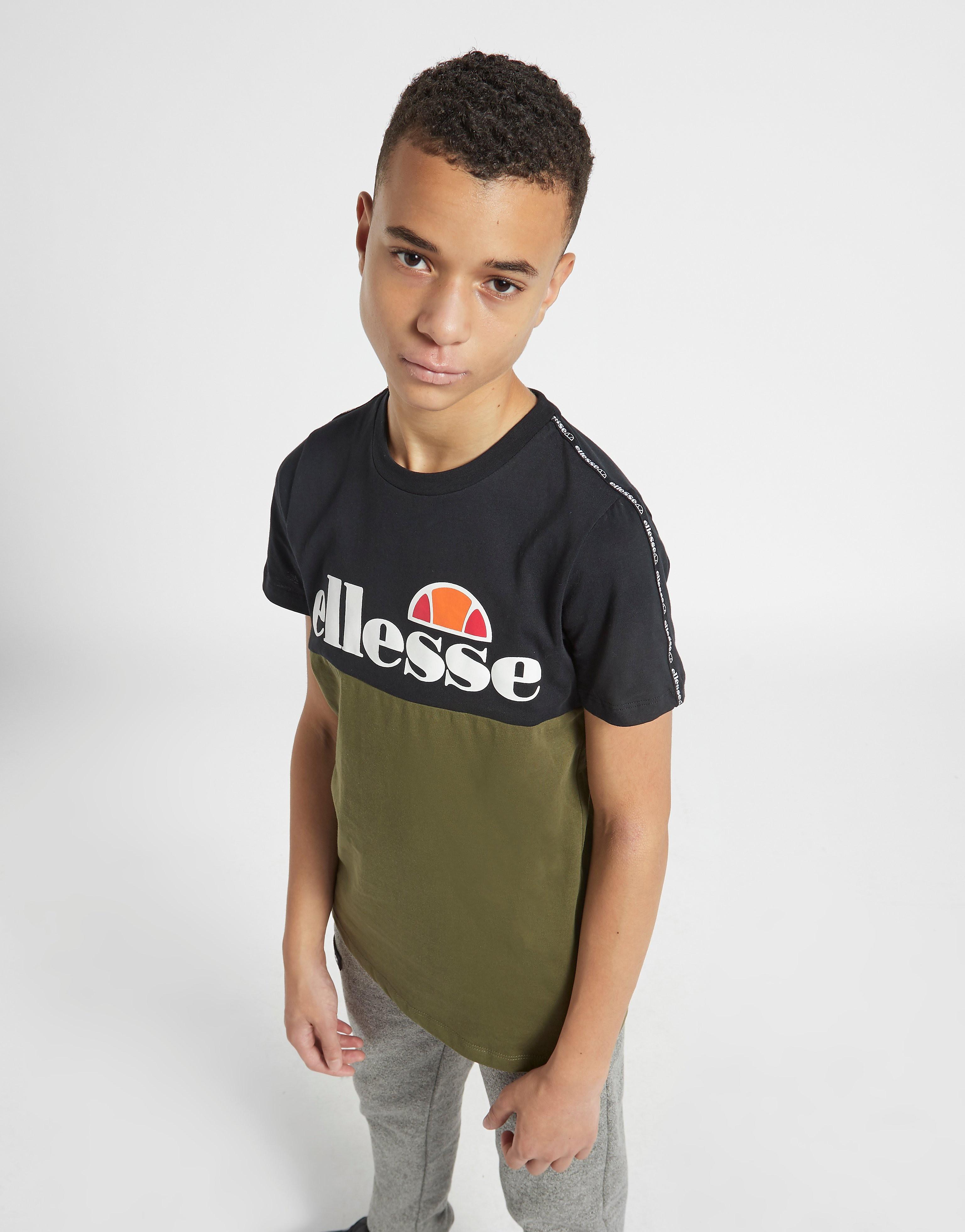 Ellesse Bonesio Colour Block T-Shirt Junior Khaki/Black Kind