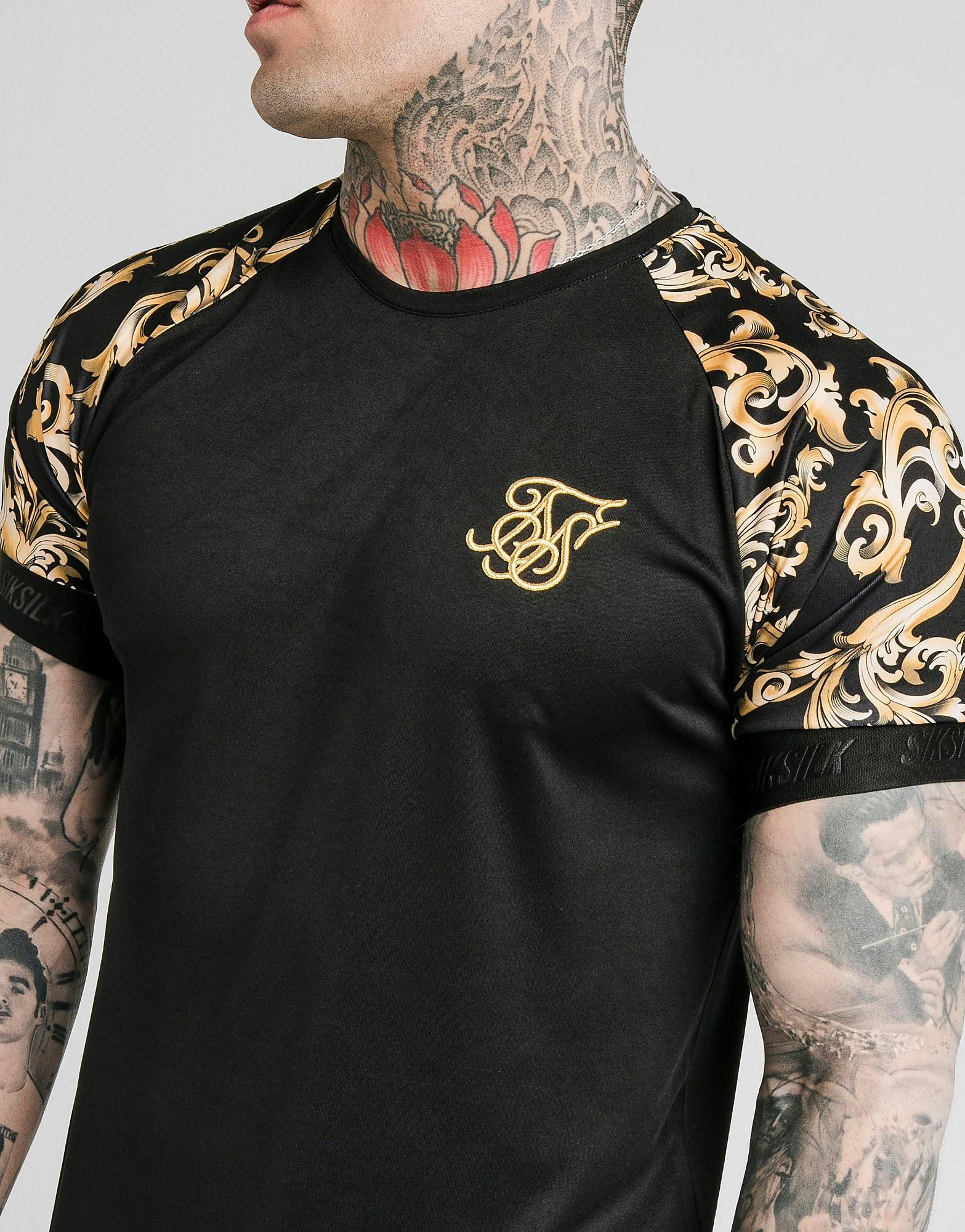 SikSilk Venetian Tech T-Shirt - alleen bij JD - Zwart - Heren