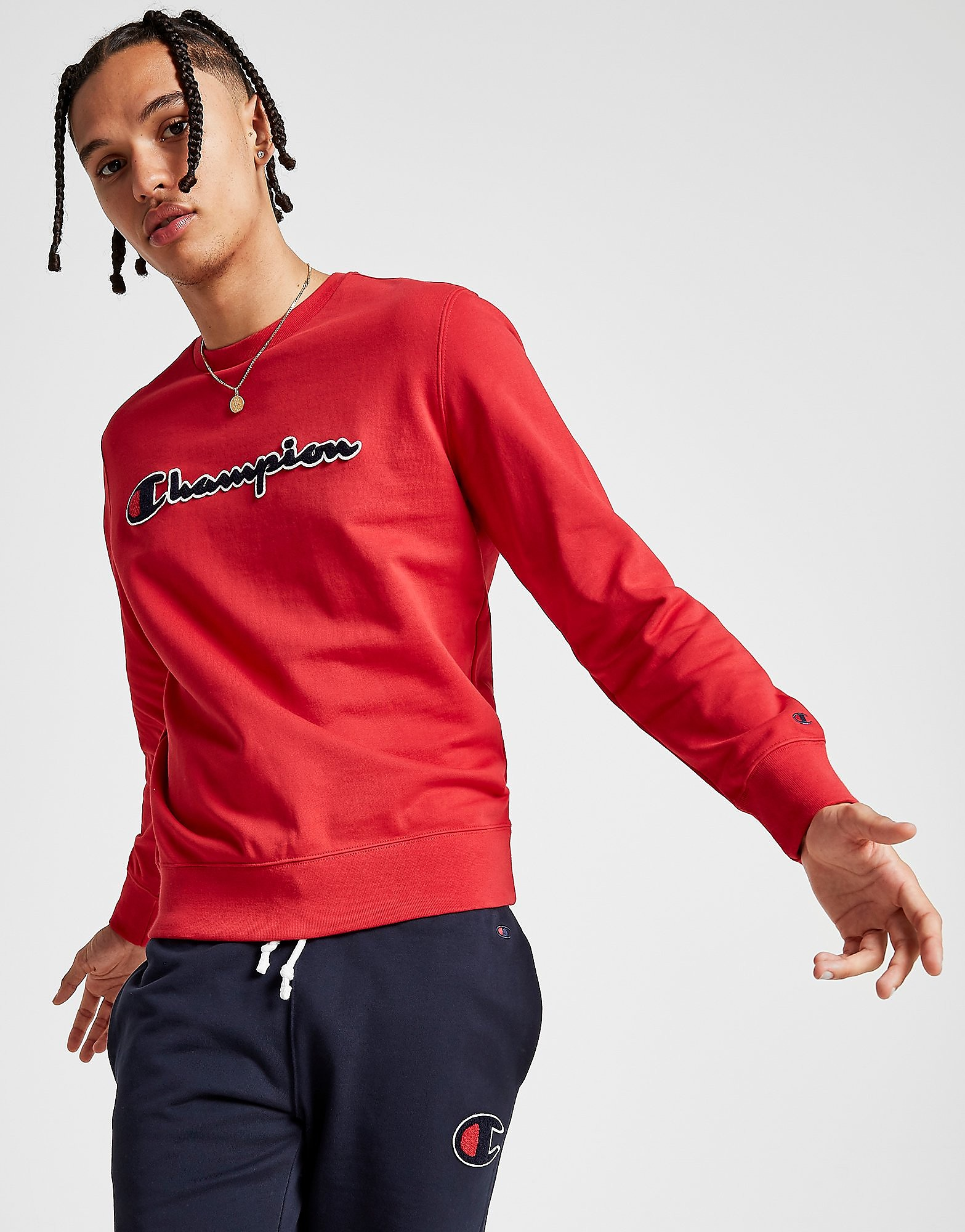 Champion Core Script Long Sleeve Red
