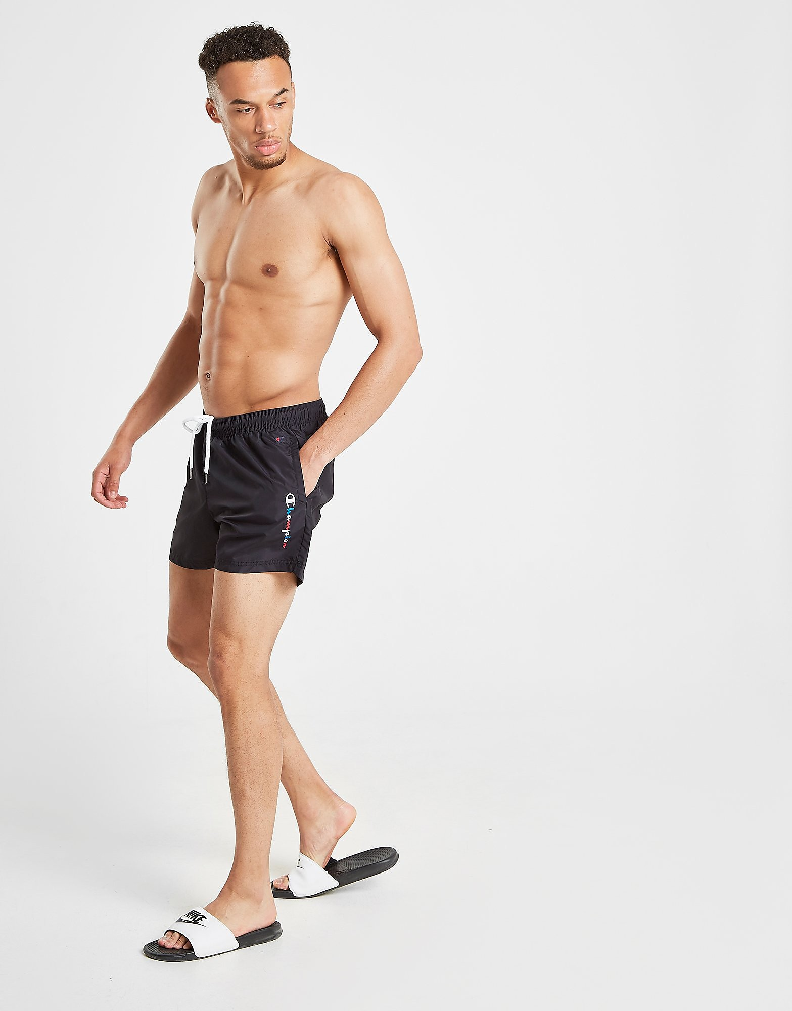 Champion Swim Shorts Heren Zwart Heren