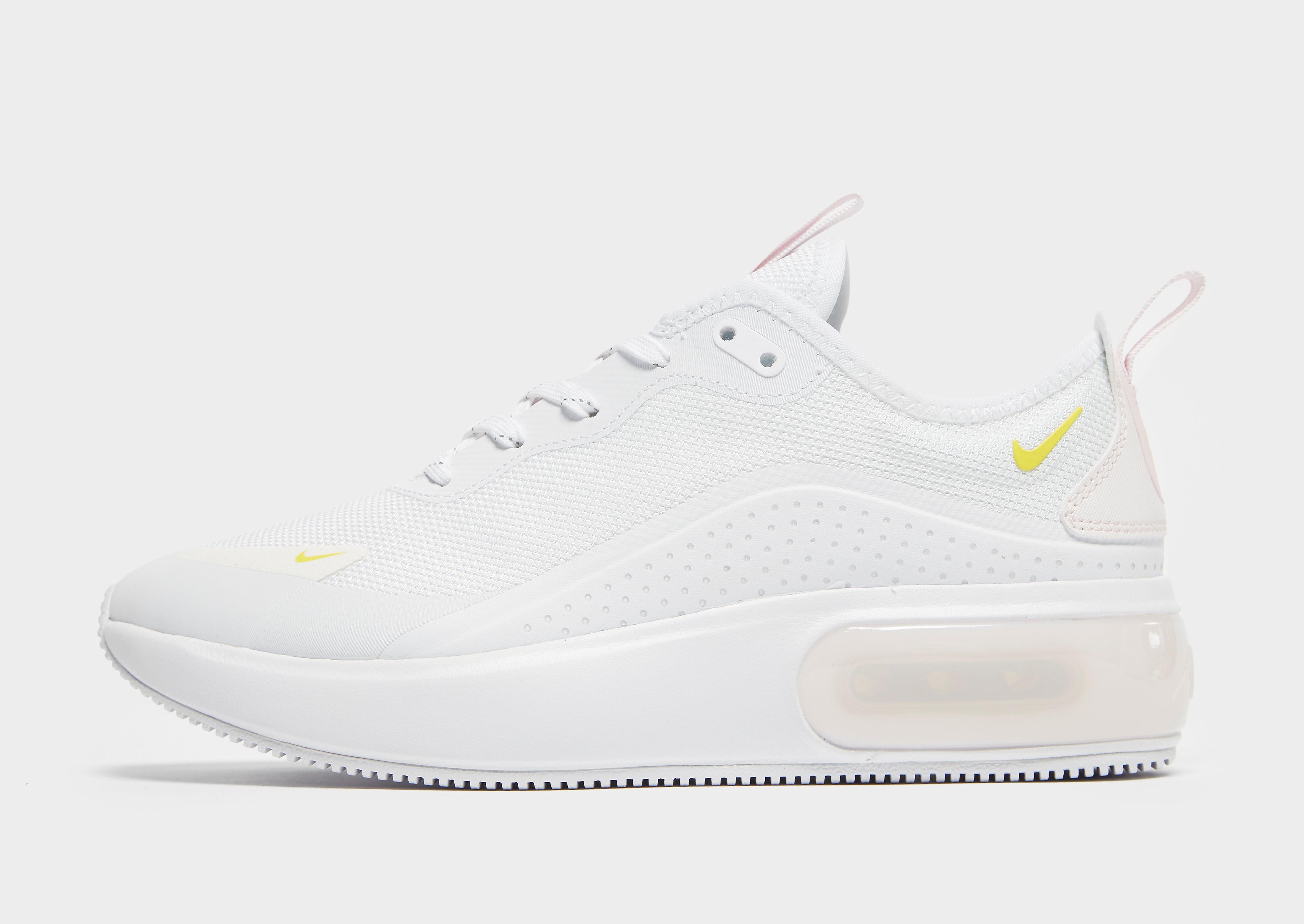 Nike Air Max Dia damessneaker wit, zwart en geel