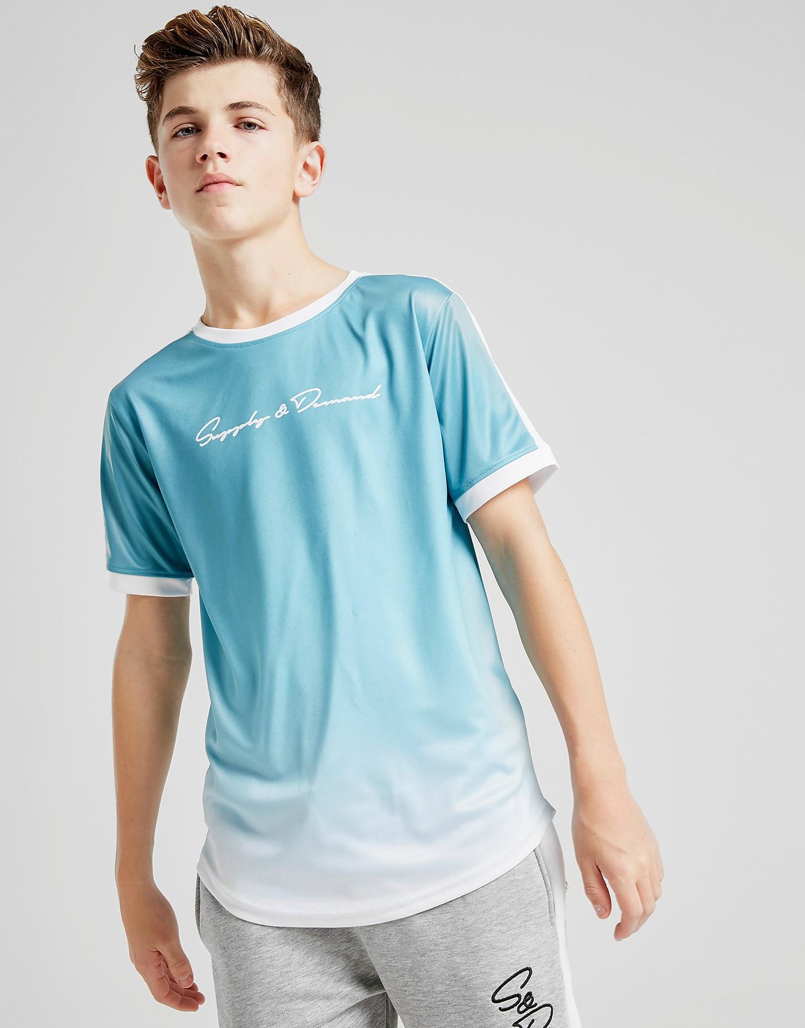 Supply & Demand Fred Fade T-Shirt Junior - alleen bij JD - Blauw - Kind