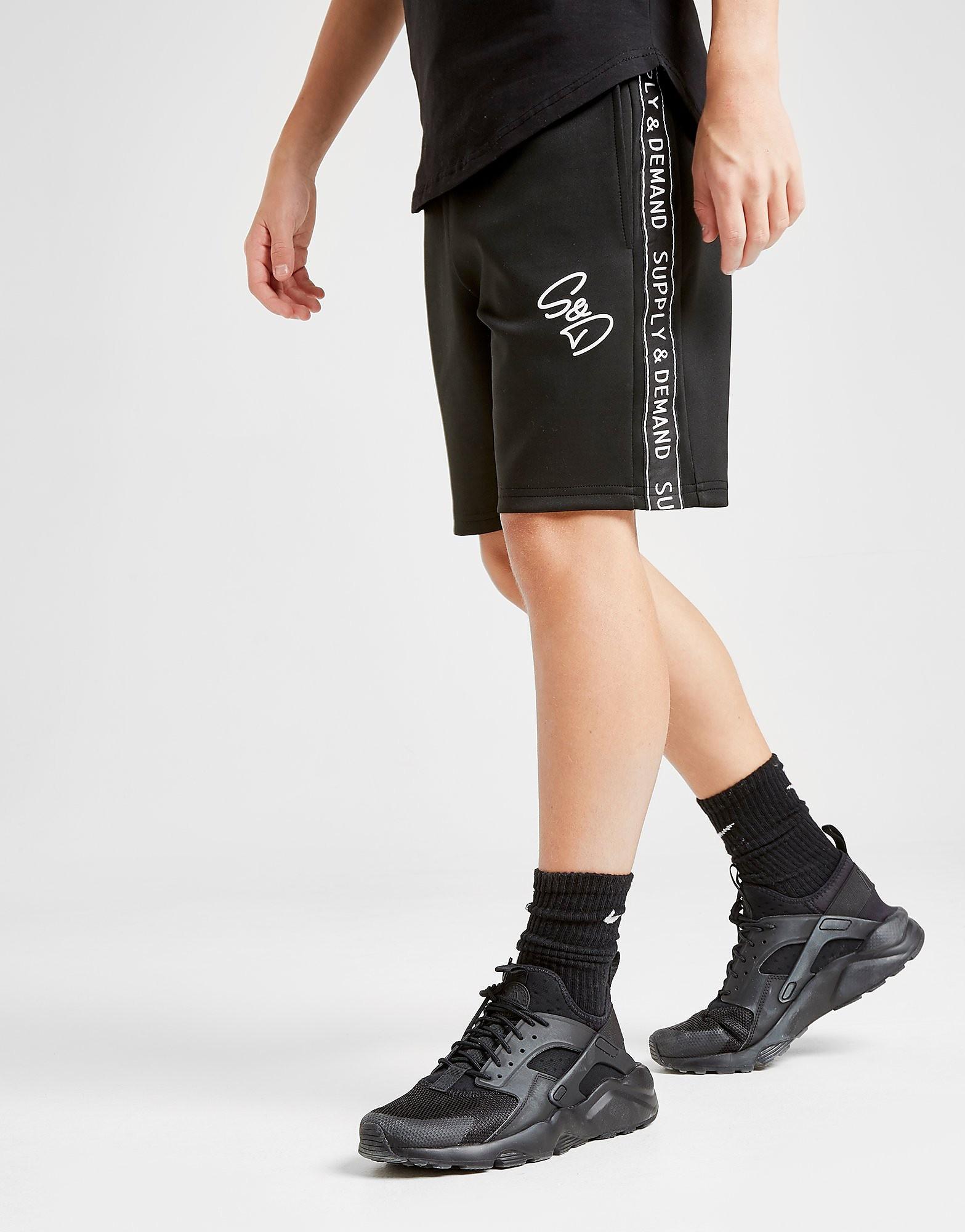 Supply & Demand Zayn Shorts Junior - alleen bij JD - Zwart - Kind