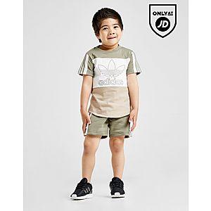 reputable site 8e4f2 1f3c3 adidas Originals Spirit Colour Block T-ShirtShorts Infant ...