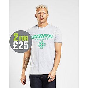 51f03bb9d74655 Official Team Northern Ireland Split T-Shirt ...