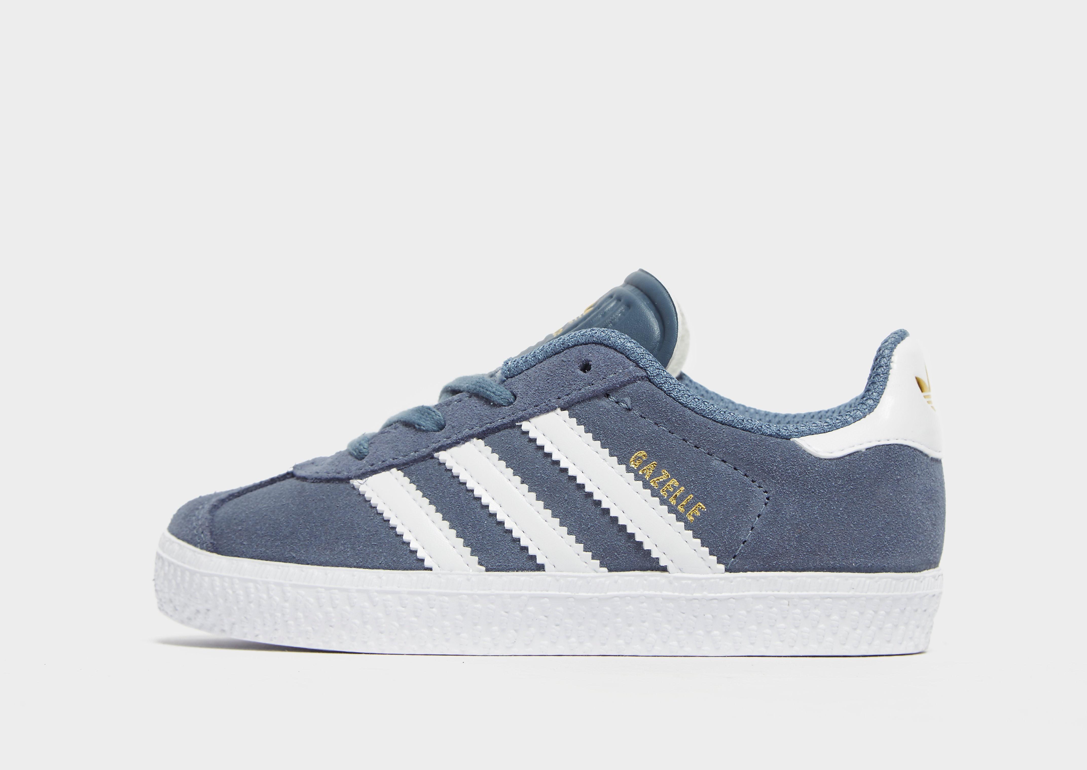 Adidas Gazelle kindersneaker blauw en goud