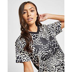 05b2a71ea468 ... adidas Originals All Over Print Leopard Trefoil T-Shirt