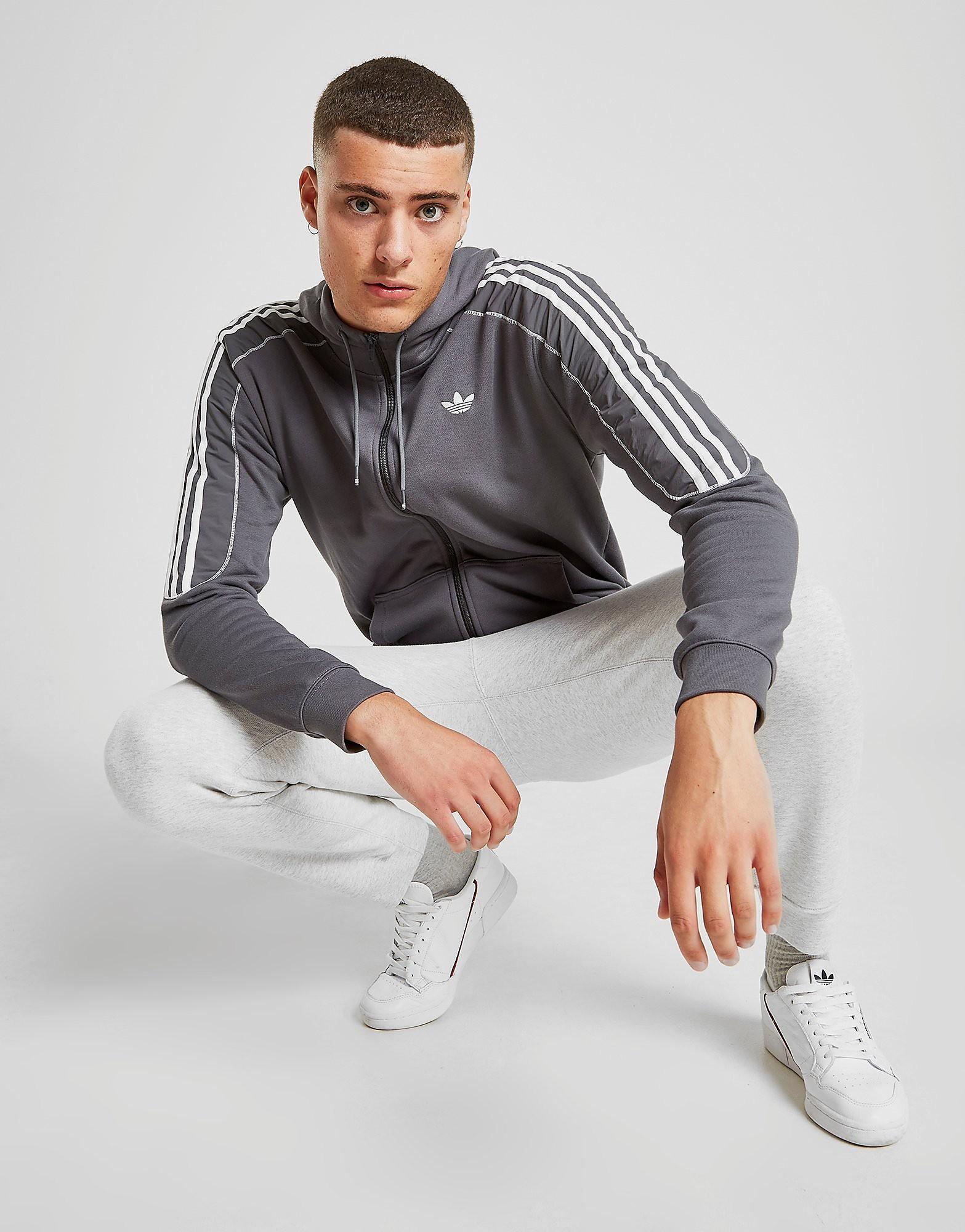 adidas Originals Radkin Full Zip Hoodie Heren - alleen bij JD - Grijs - Heren, Grijs