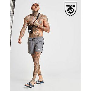 8a64f614b1e54 adidas Originals Tape Swim Shorts ...
