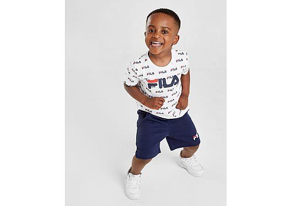 Fila All Over Print T-Shirt/Shorts Set Baby's - Navy - Kind