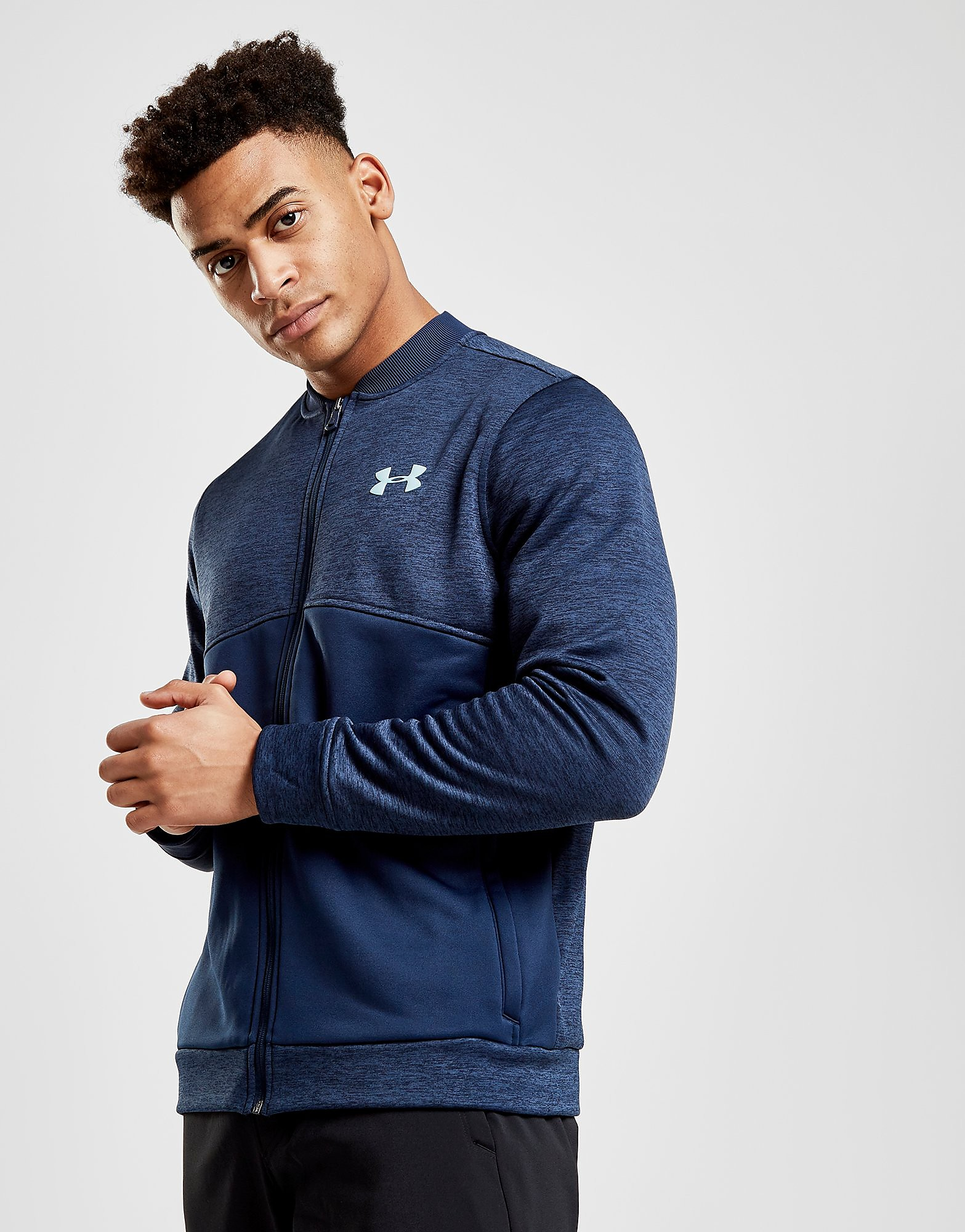 Under Armour Fleece Track Jacket Heren - alleen bij JD - Blauw - Heren