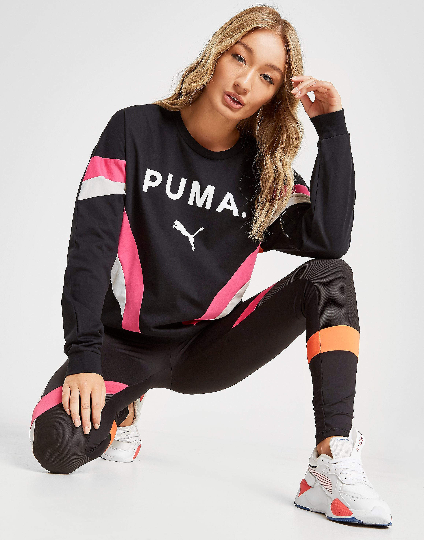 PUMA Chase Crew Sweatshirt Dames - Zwart - Dames